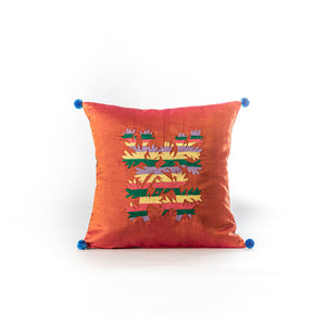 Vintage sari Gond ka Ped cushion cover