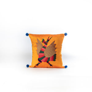 Load image into Gallery viewer, Vintage sari Gond Murgh cushion cover