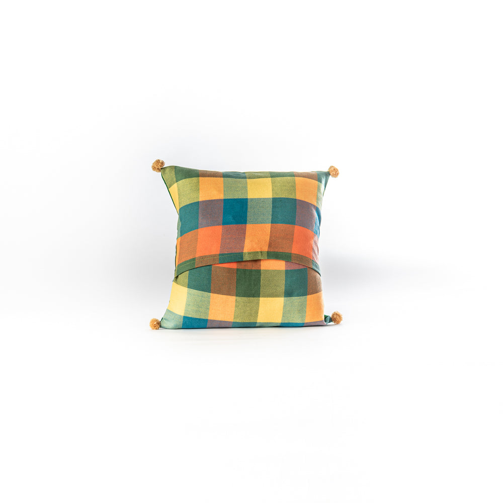 Load image into Gallery viewer, Vintage sari Gond Pakshi cushion cover