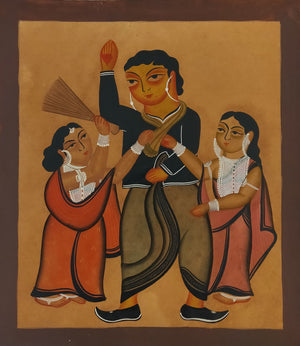 Load image into Gallery viewer, KALIGHAT : A Husband Being Beaten By Two Wives!