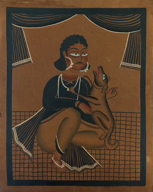 Load image into Gallery viewer, KALIGHAT : Man and Pet Dog