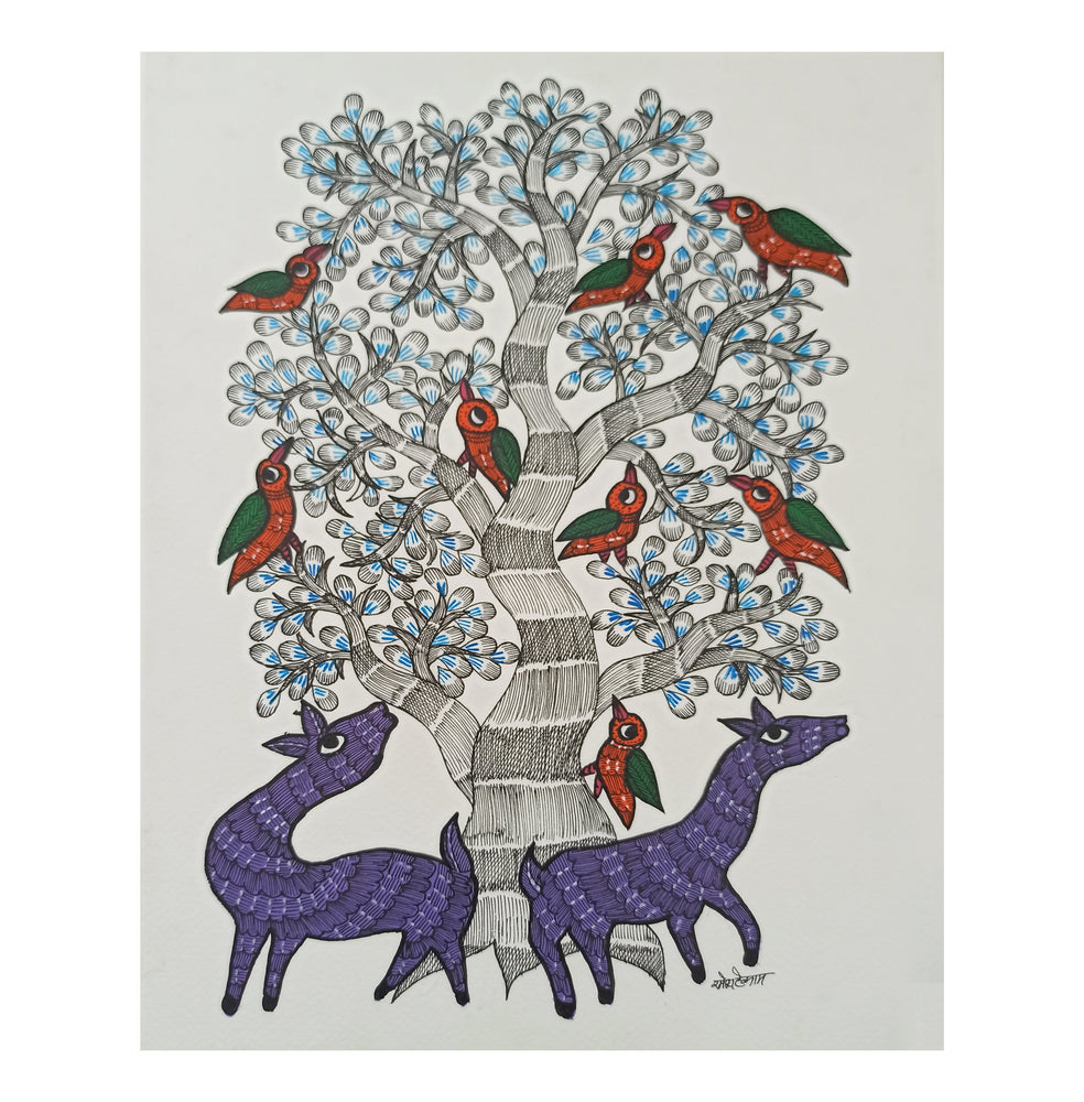 Load image into Gallery viewer, GOND : Purple Passion