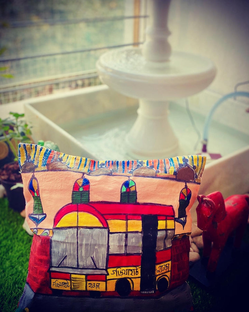 Kolkata Mini Bus Cushion Cover