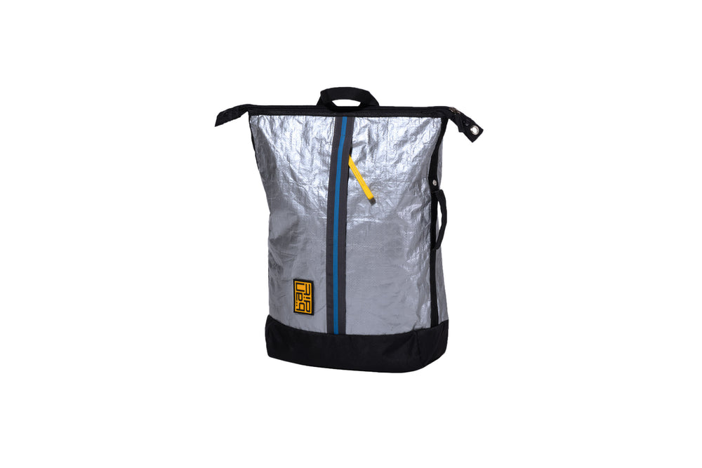Load image into Gallery viewer, Tarpaulin Backpack Silver