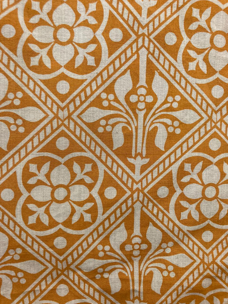 Alpona - Turmeric on Beige
