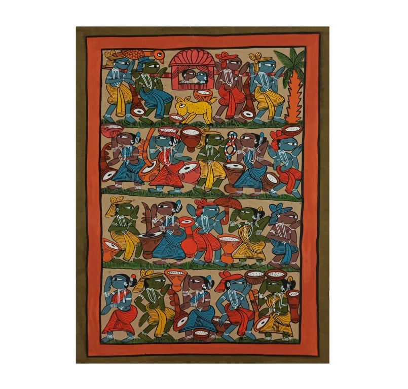 BENGAL PATTACHITRA : SANTHAL WEDDING