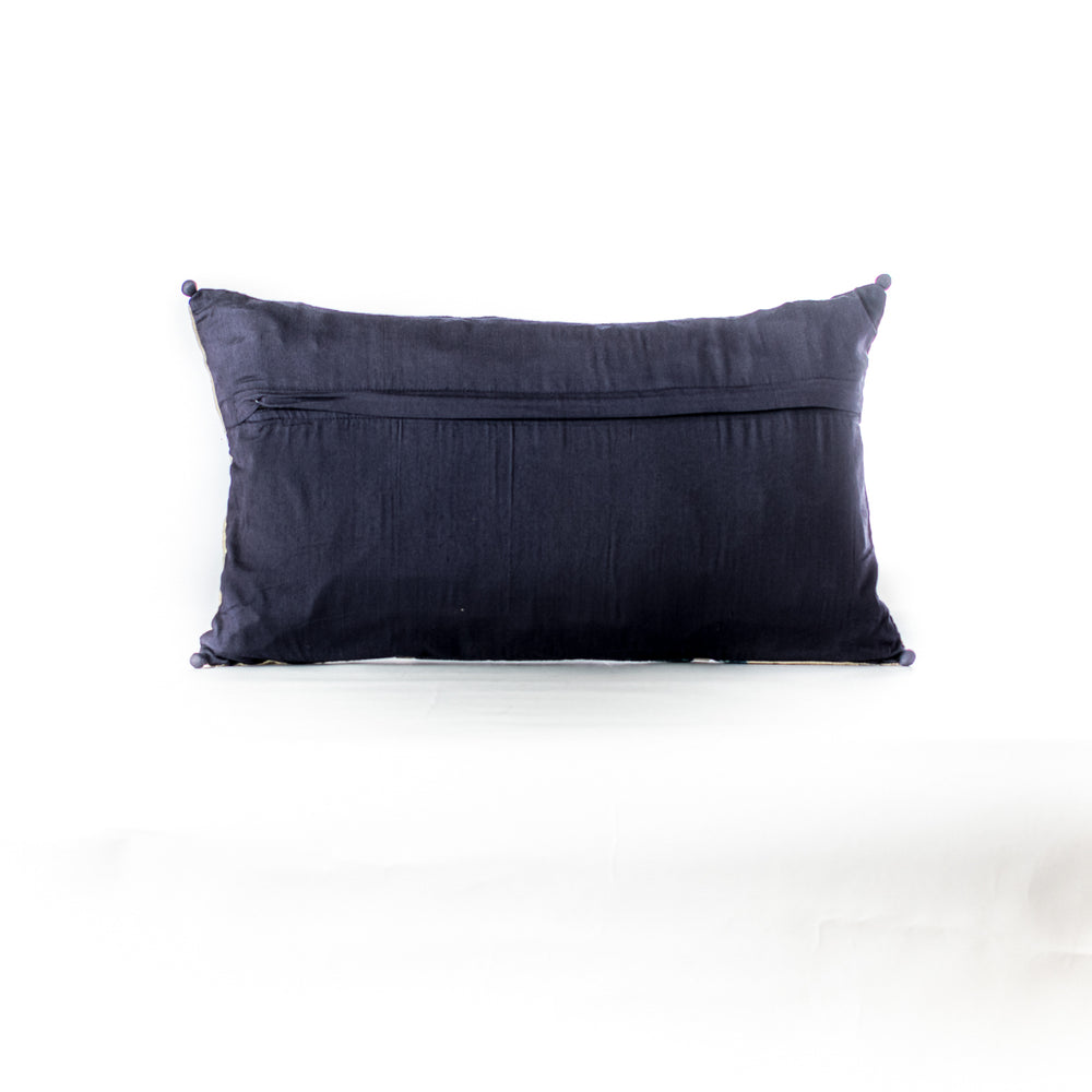 Indigo Patchwork Cushion Cover