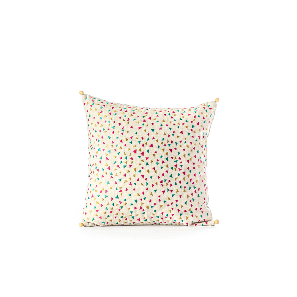 Confetti Embroidered Cushion Cover