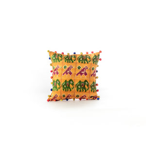 Load image into Gallery viewer, Kantha Animal Print Cushion Cover