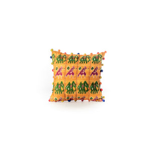 Kantha Animal Print Cushion Cover