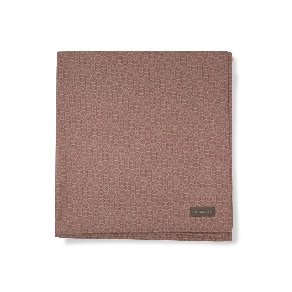 Acrylic Coated Table Cloth - Geo Pink