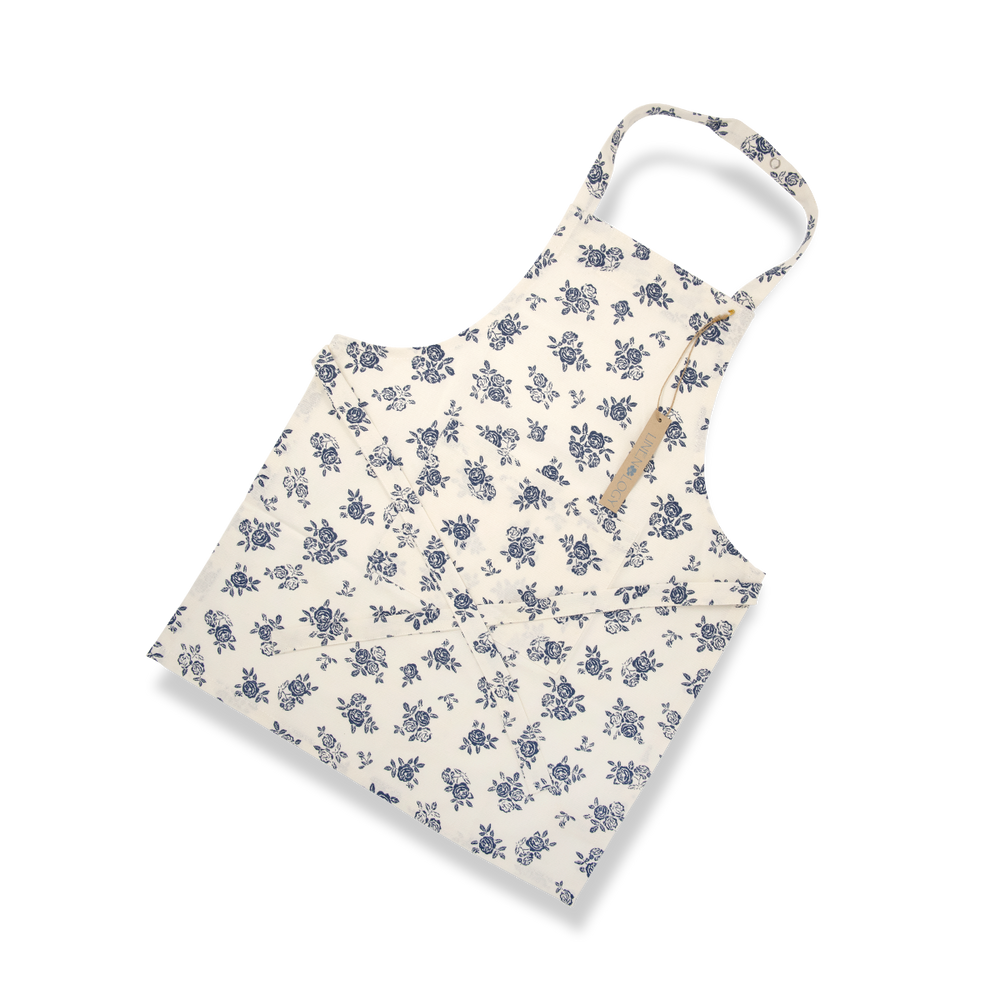 Apron-English Rose-Cream