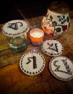 Alphabets Marble Coasters