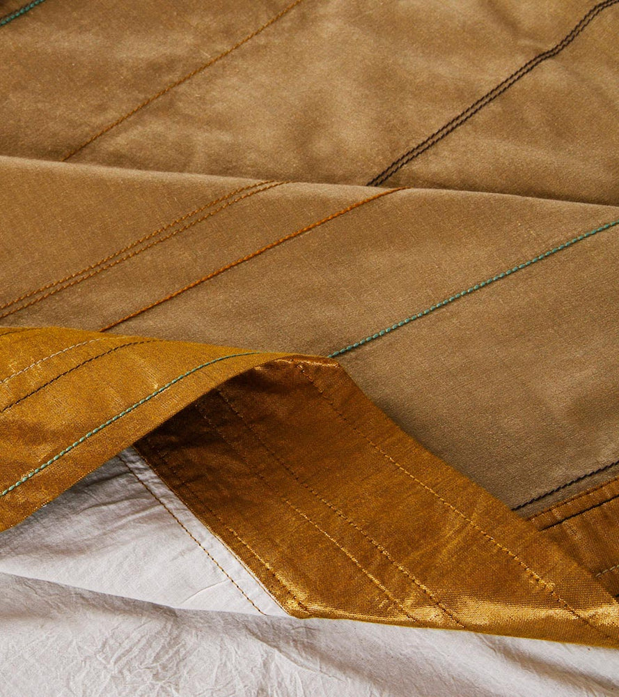 Load image into Gallery viewer, Anaar Marg - Gold Pista Bed Cover