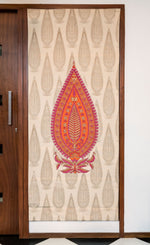 Ashoka Panel - Pink, Orange and Gold on Khaki