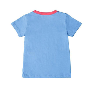 Azure Playtime Tshirt With Half Sleeves