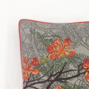 Load image into Gallery viewer, Bahaar Gulmohar Cushion Cover