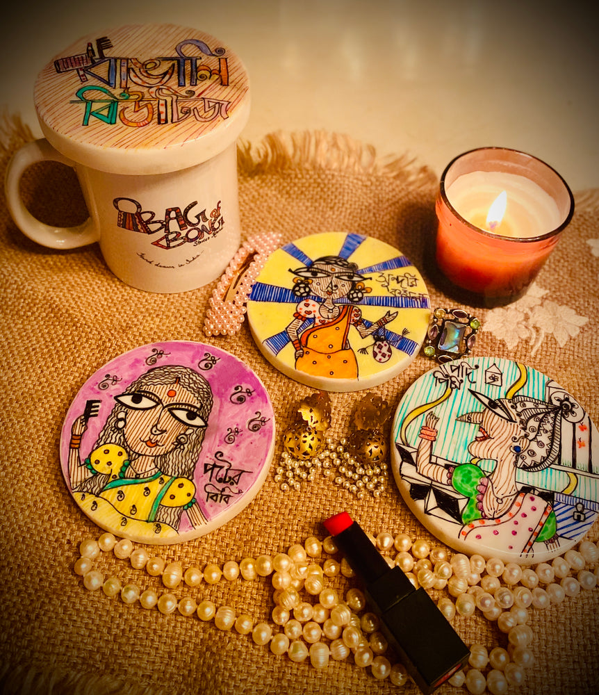 Load image into Gallery viewer, Bangali Beauties Marble Coasters