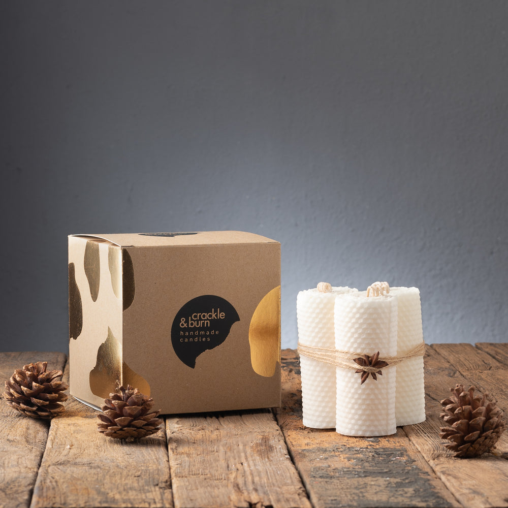 Honeycomb Candles (Set of 3)