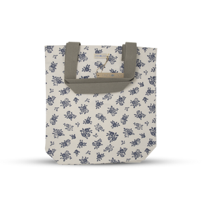 Load image into Gallery viewer, Canvas Tote - English Rose - Cream