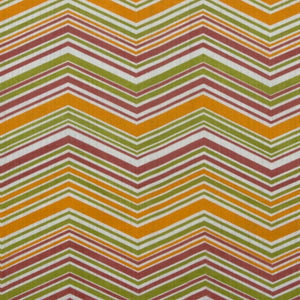 Chevron - Yellow, Pink and Green on White
