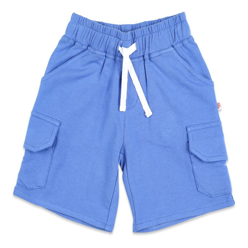 Classic Blue Shorts with Flap Pockets