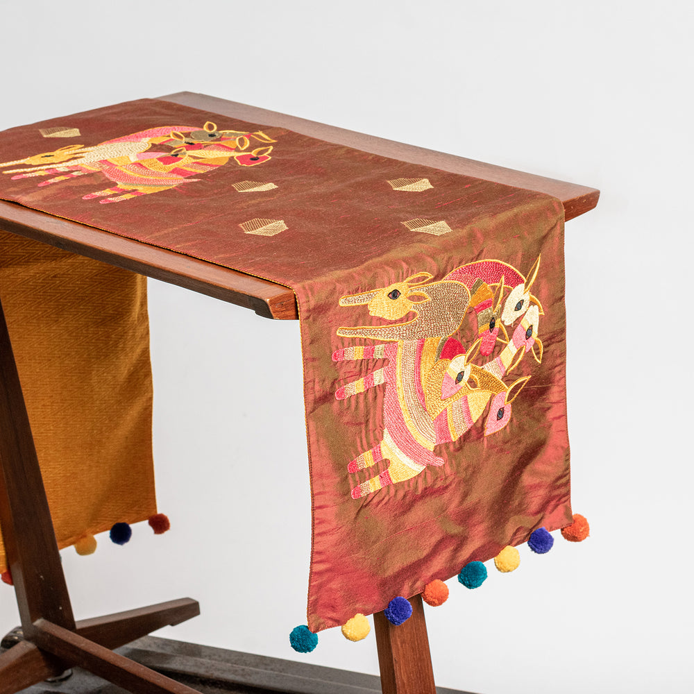 Gond art table runner