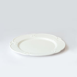 Load image into Gallery viewer, White Embossed Plates Set of 3