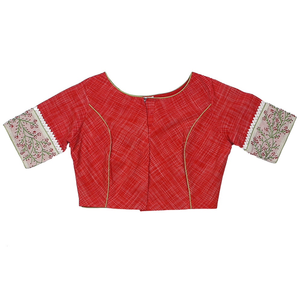 Red Wild Flower Blouse