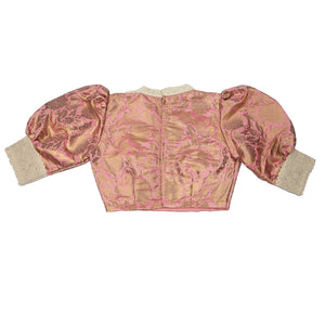 Load image into Gallery viewer, Vintage Brocade Pink Blouse