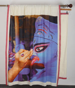 Blue Kali Photo Saree