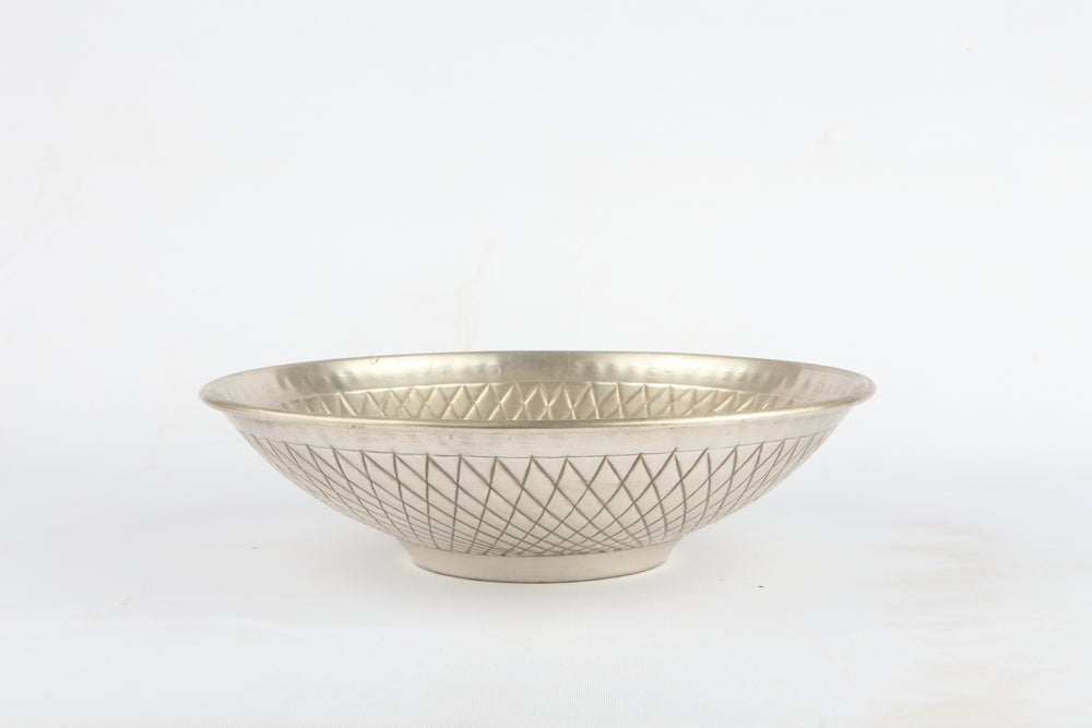 Brass embossed bowl S