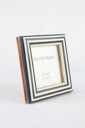 Load image into Gallery viewer, Navy White Frame Square