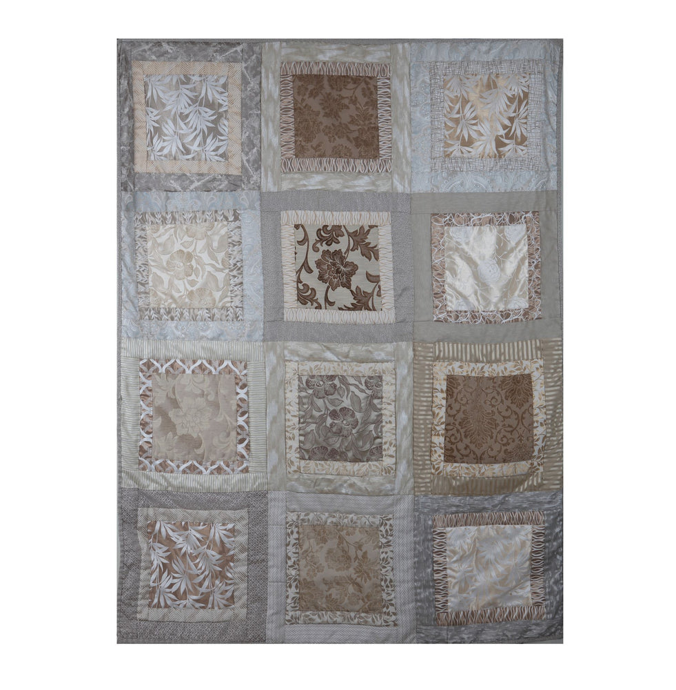 Magic Square Twin Quilt in Beige