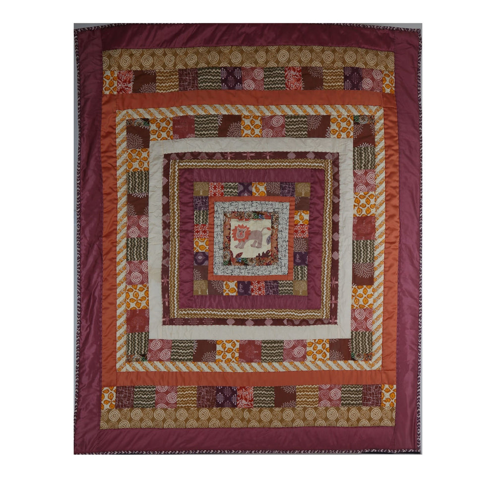 Kids Twin Whimsical Lion Quilt