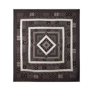 Window of Soul - Queen size Brown Quilt
