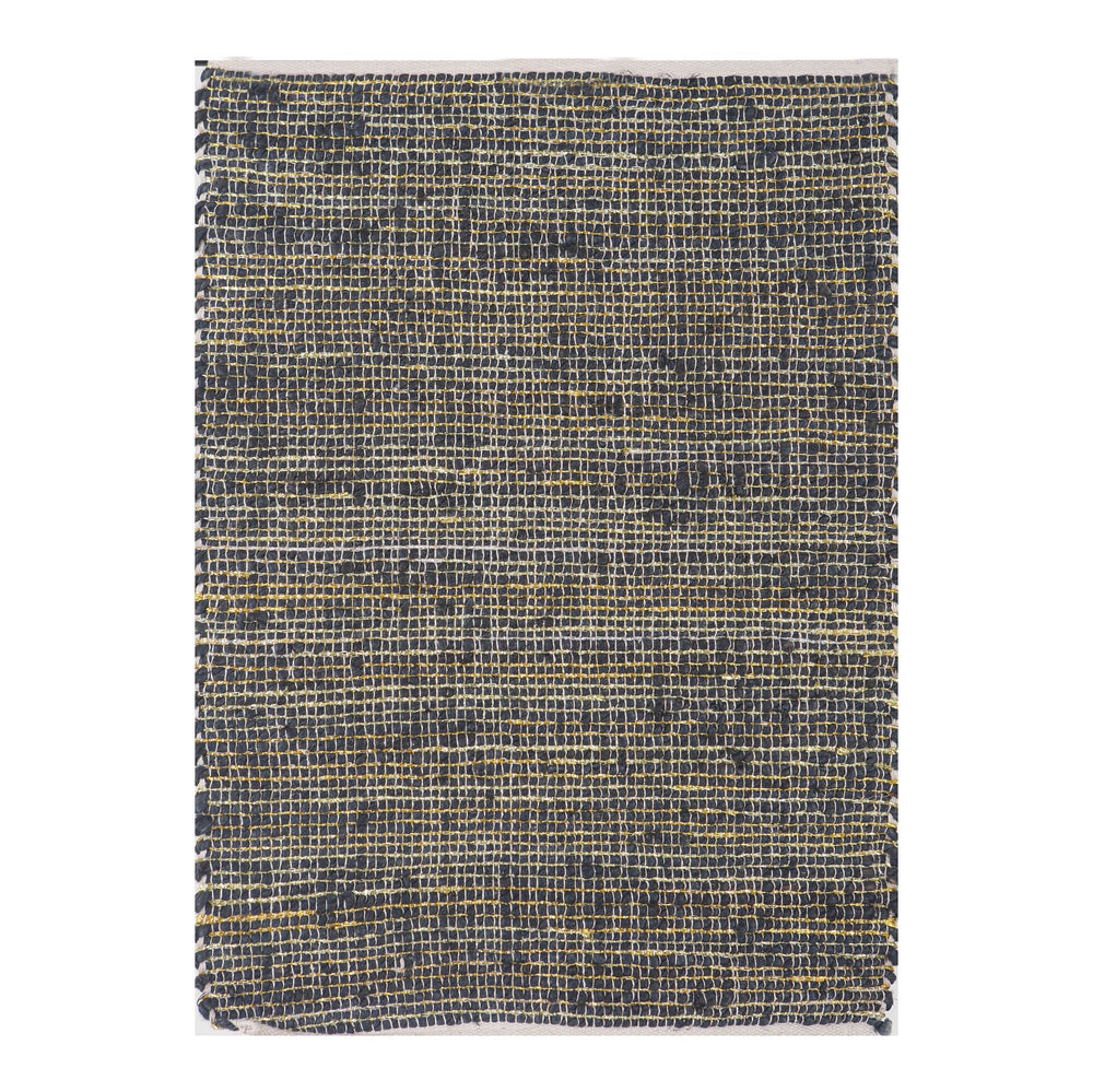 Load image into Gallery viewer, Jute Rug Black/Gold