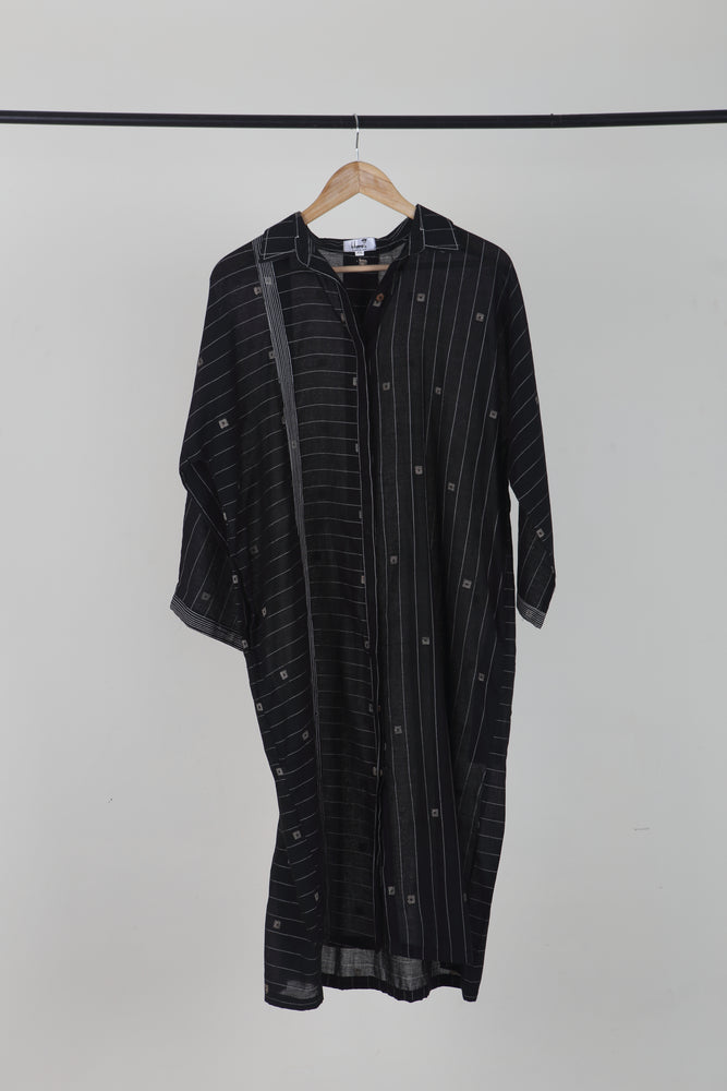 Shirt Dress Black Stripes