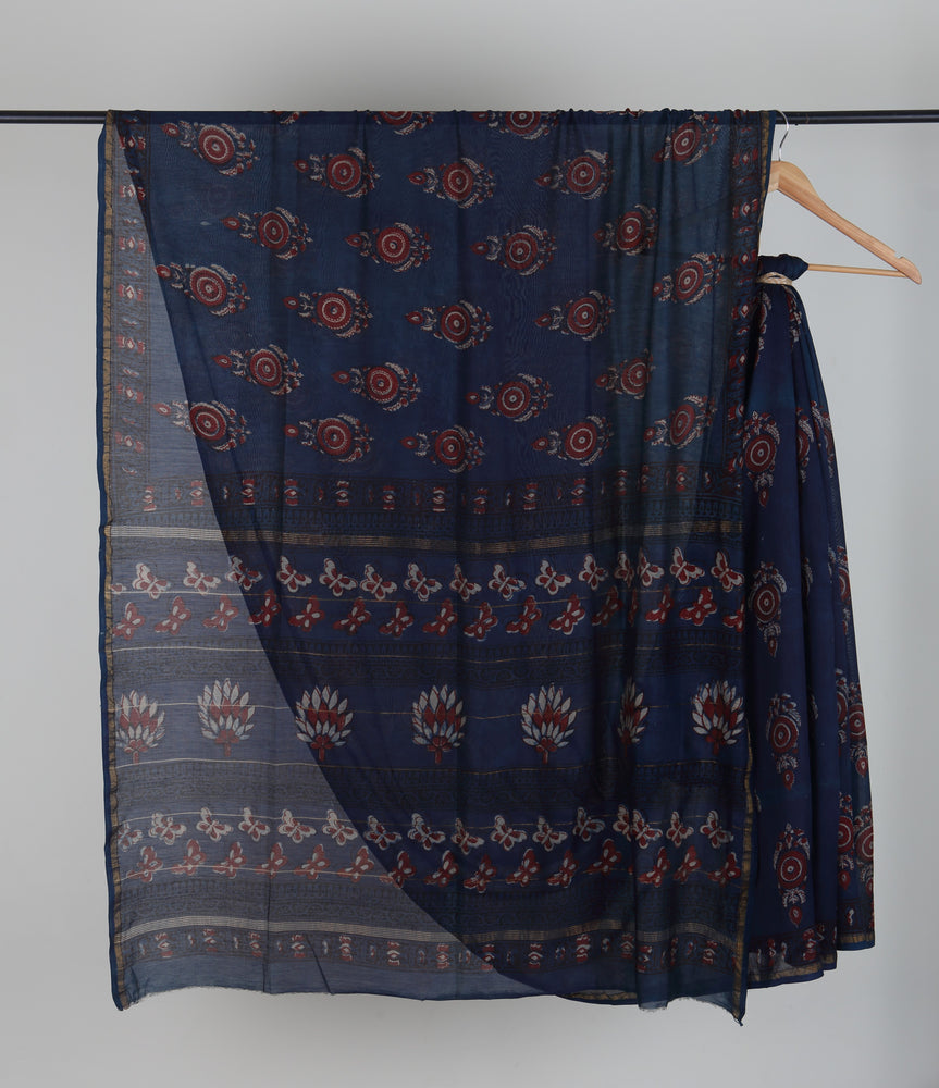 Kaisori Dabu Chanderi Saree