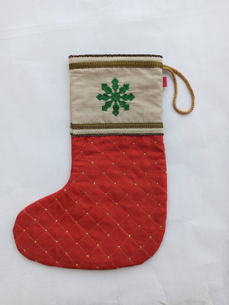 Christmas Stocking - Red Quilt