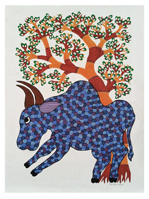 Gond : One tree,one bull
