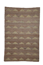 Jute Triangle Rug Gold