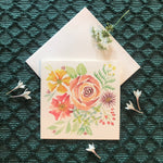 Notecards S/3 - Pastel Posy