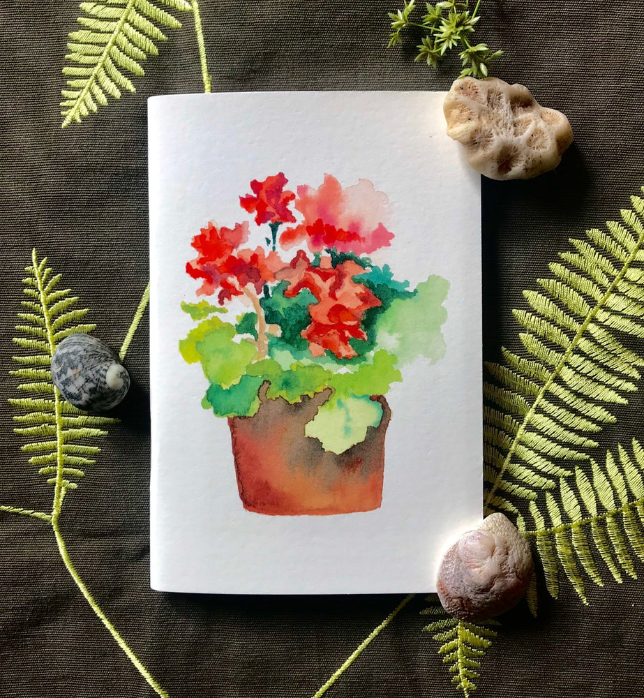 Notebook - Red Geranium
