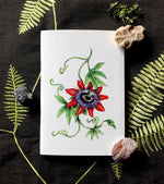 Notebook - Red Passion flower