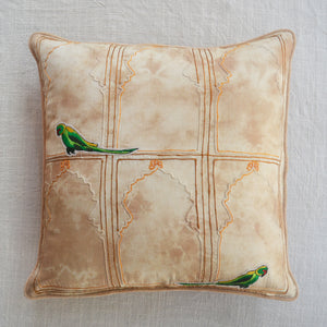 Jharokha Tota Cushion Cover