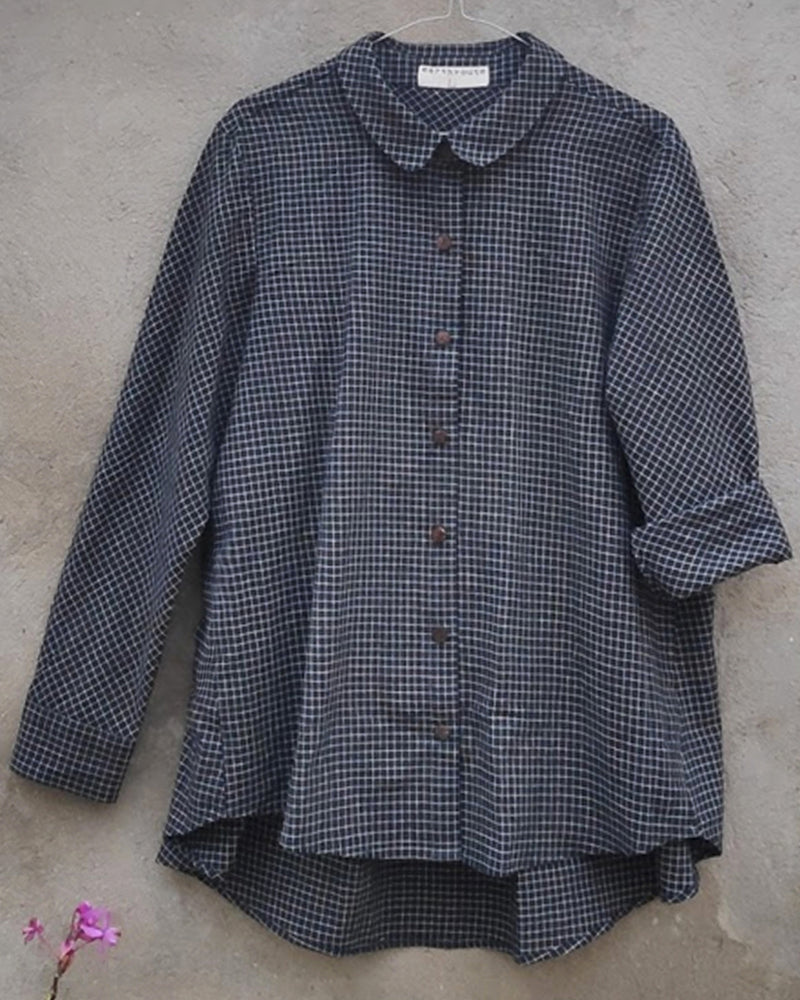 Koyel Work Shirt in handwoven cotton check