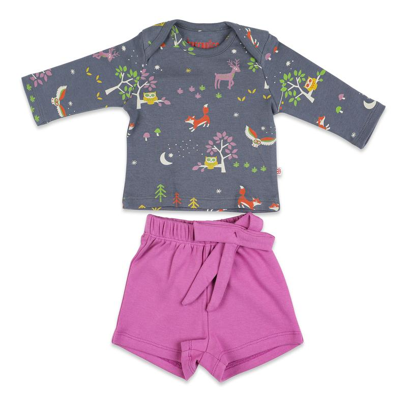 Magical Forest Top with Bow Shorts Set