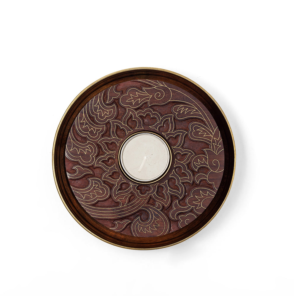 Load image into Gallery viewer, Sooraj Mukhi Tealight and Plate