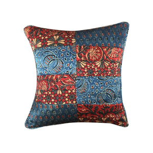 Prints Of Kutch Indigo Cushion Cover